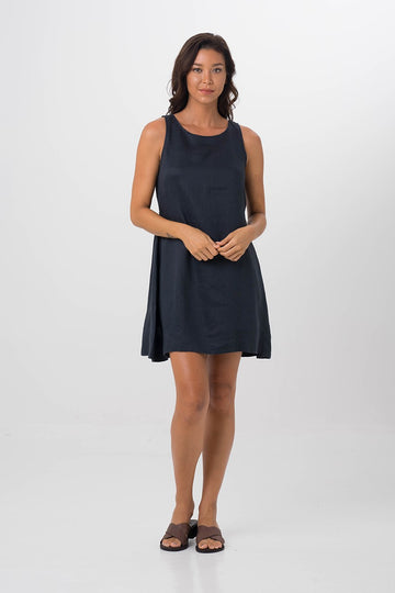 By The Sea Bali Grenada Dress Navy