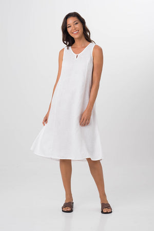 By The Sea Bali Linen Princess Cut Midi Dress