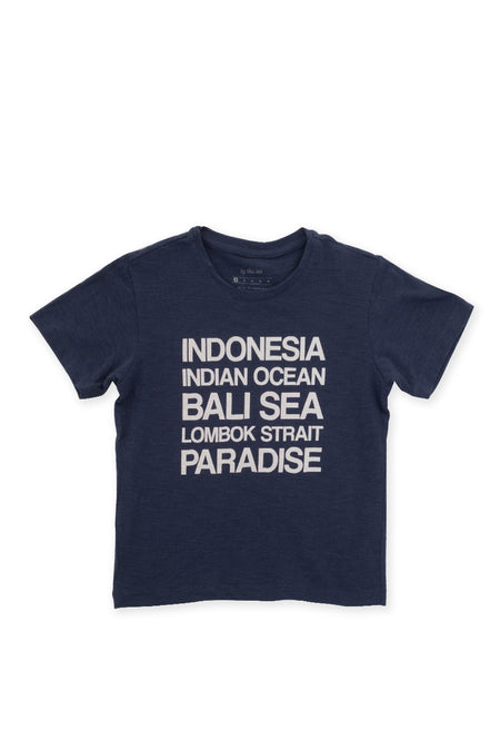 Kids printed T-shirt Navy Ocean Lovers