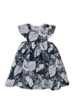 Linen Kids Dress Navy