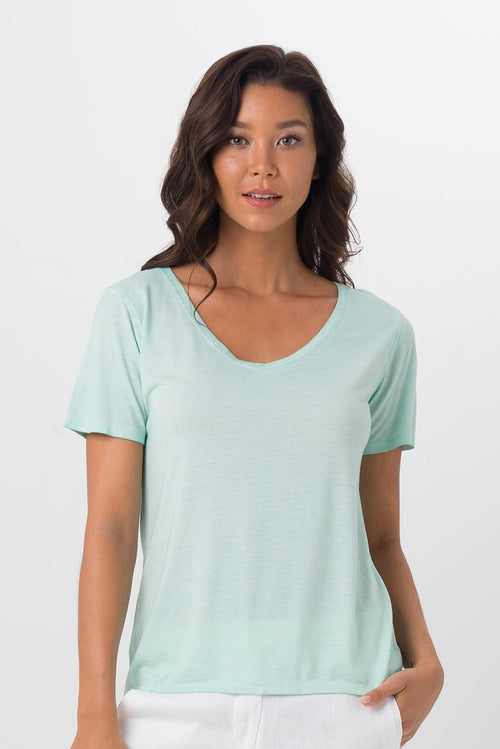 By The Sea Bali Basic V-Neck T-Shirt Green