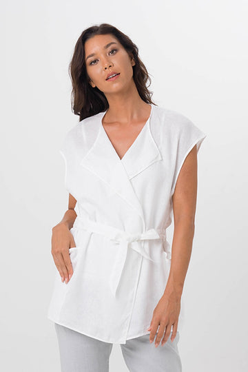 By The Sea Bali Linen Summer Outer White