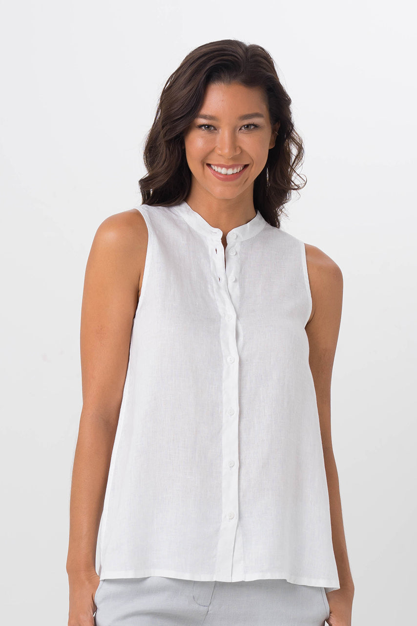 By The Sea Bali Shanghai Linen Shirt