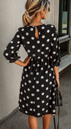 Polka Dots Midi Dress - 2 Color Options - The Darling Style - Modest Dresses