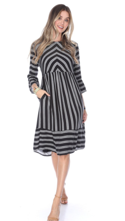 Kindness Wins Dress - BLACK - The Darling Style - Modest Dresses