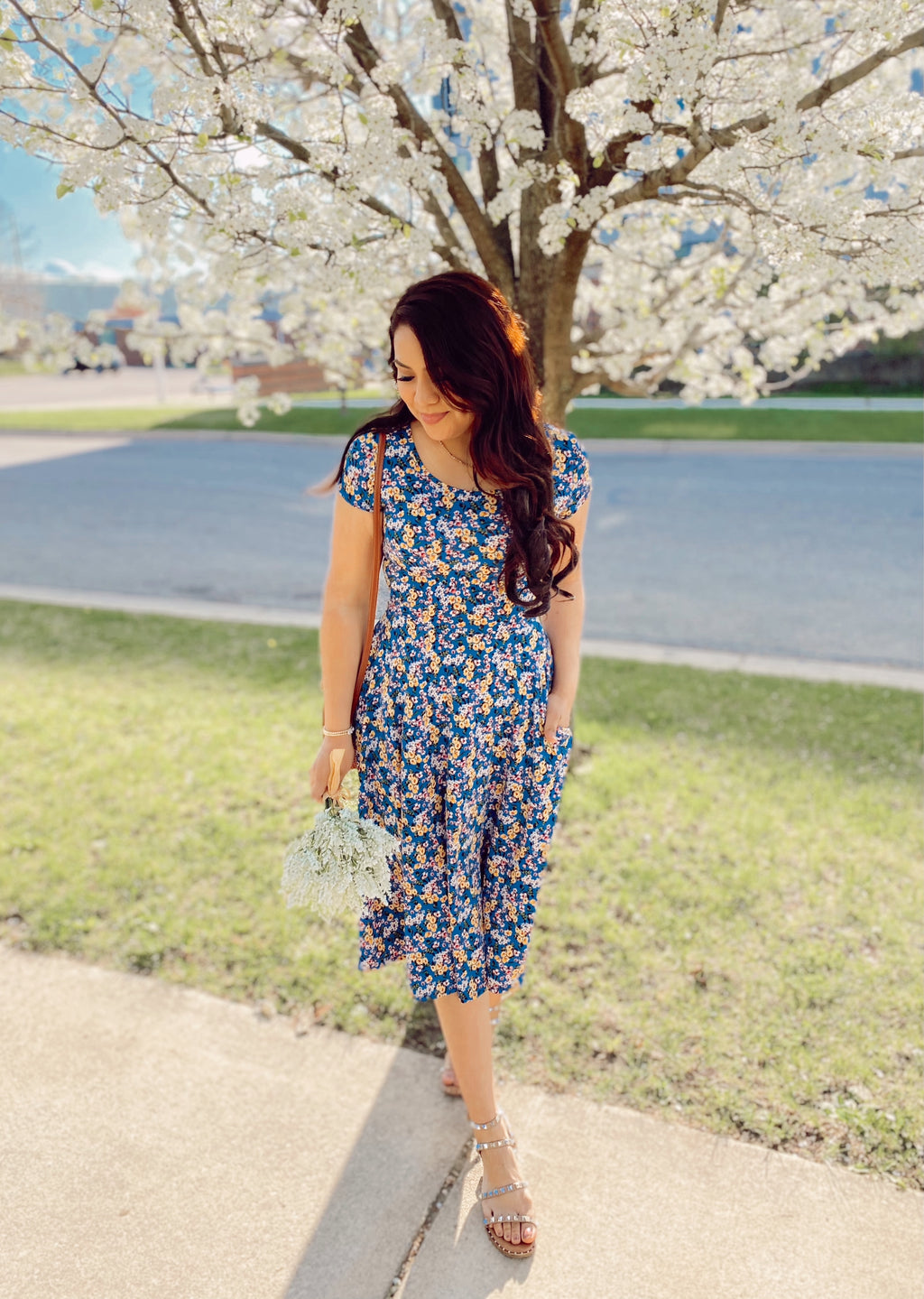 The Emily Dress - Blue