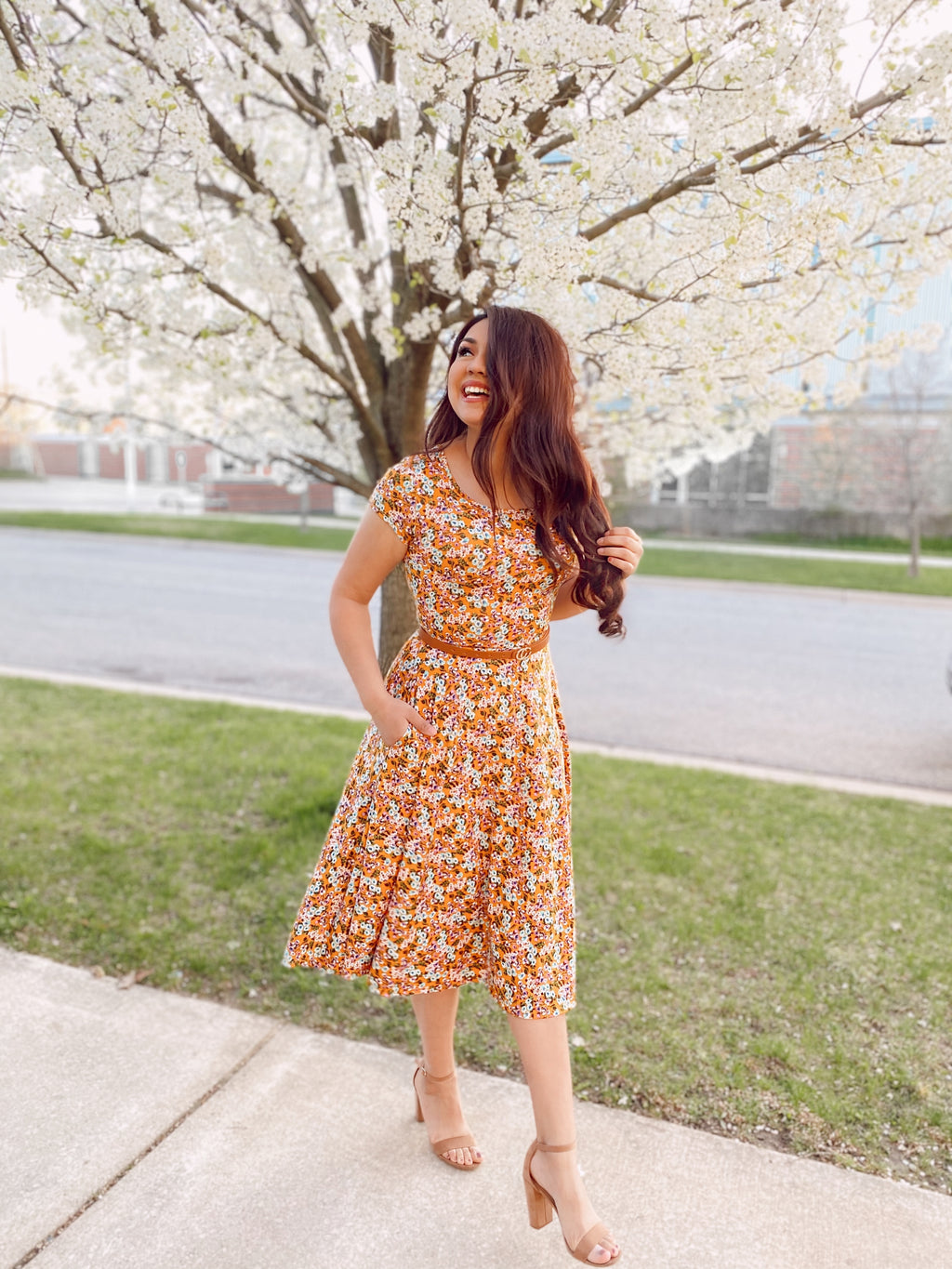 The Emily Dress - Mustard