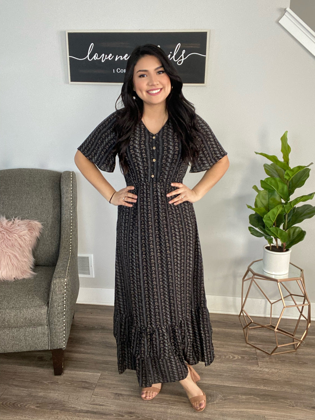 Aubrey Maxi Dress - The Darling Style - Modest Dresses