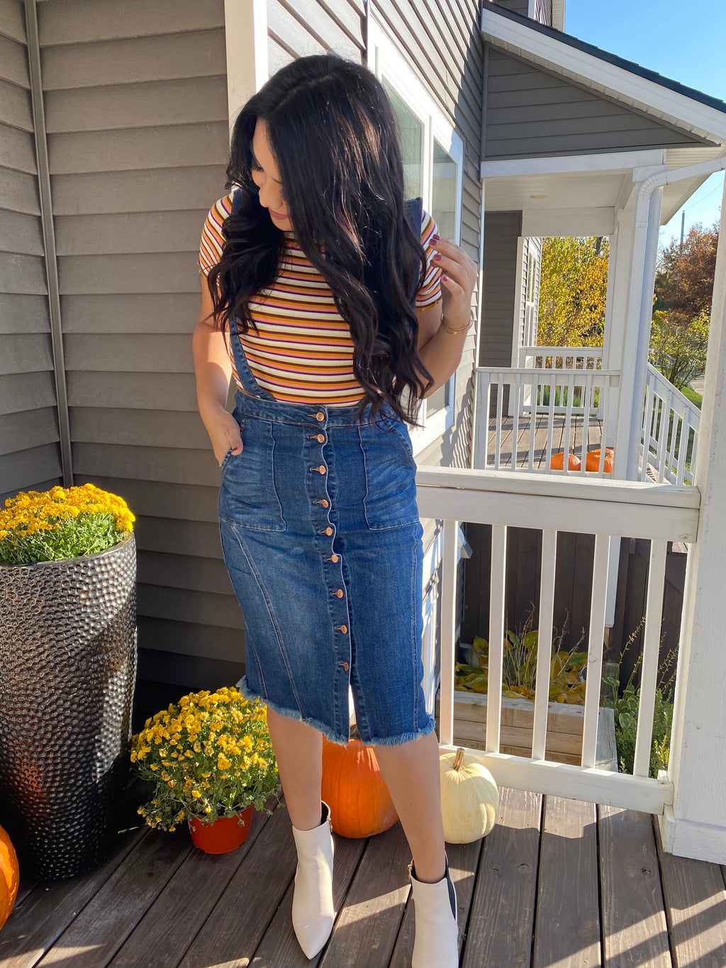 Demi Overall Denim Skirt