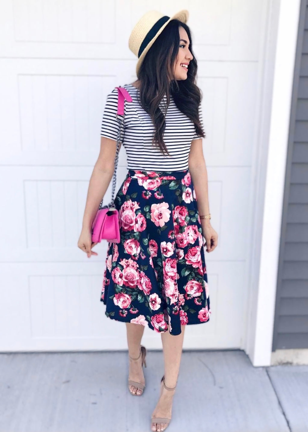The Priscilla Floral Skirt - The Darling Style