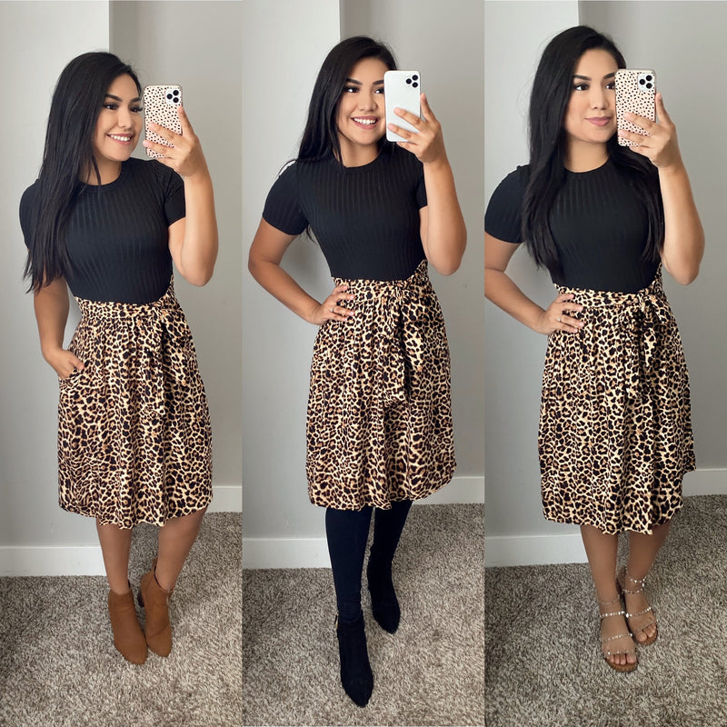 Jessy Animal Print Dress - The Darling Style - Modest Dresses