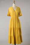 Belinda Dress - In Mustard - The Darling Style