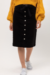 Corduroy Skirt - Black