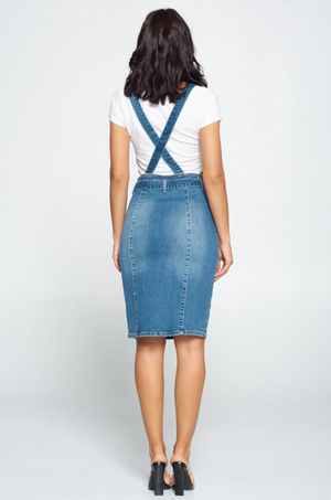Dream Big Suspender Bow Skirt