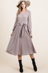 Elena Cozy Sweater Dress - Mocha