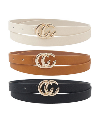 Esley Belt SET - In Black/Ivory/Tan - The Darling Style