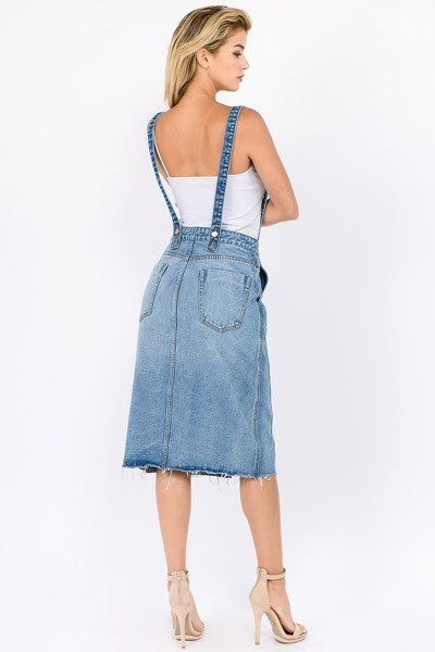Brooke Overall Denim Skirt - The Darling Style - Modest Dresses