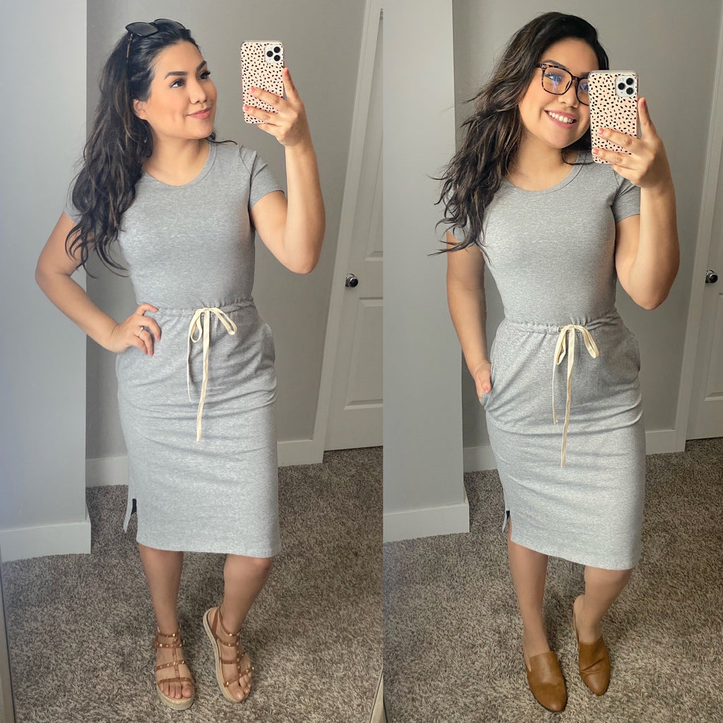 McKenna Lounge Dress - Gray - The Darling Style - Modest Dresses