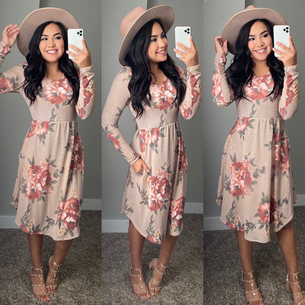 Crisp Air Floral Dress - The Darling Style - Modest Dresses