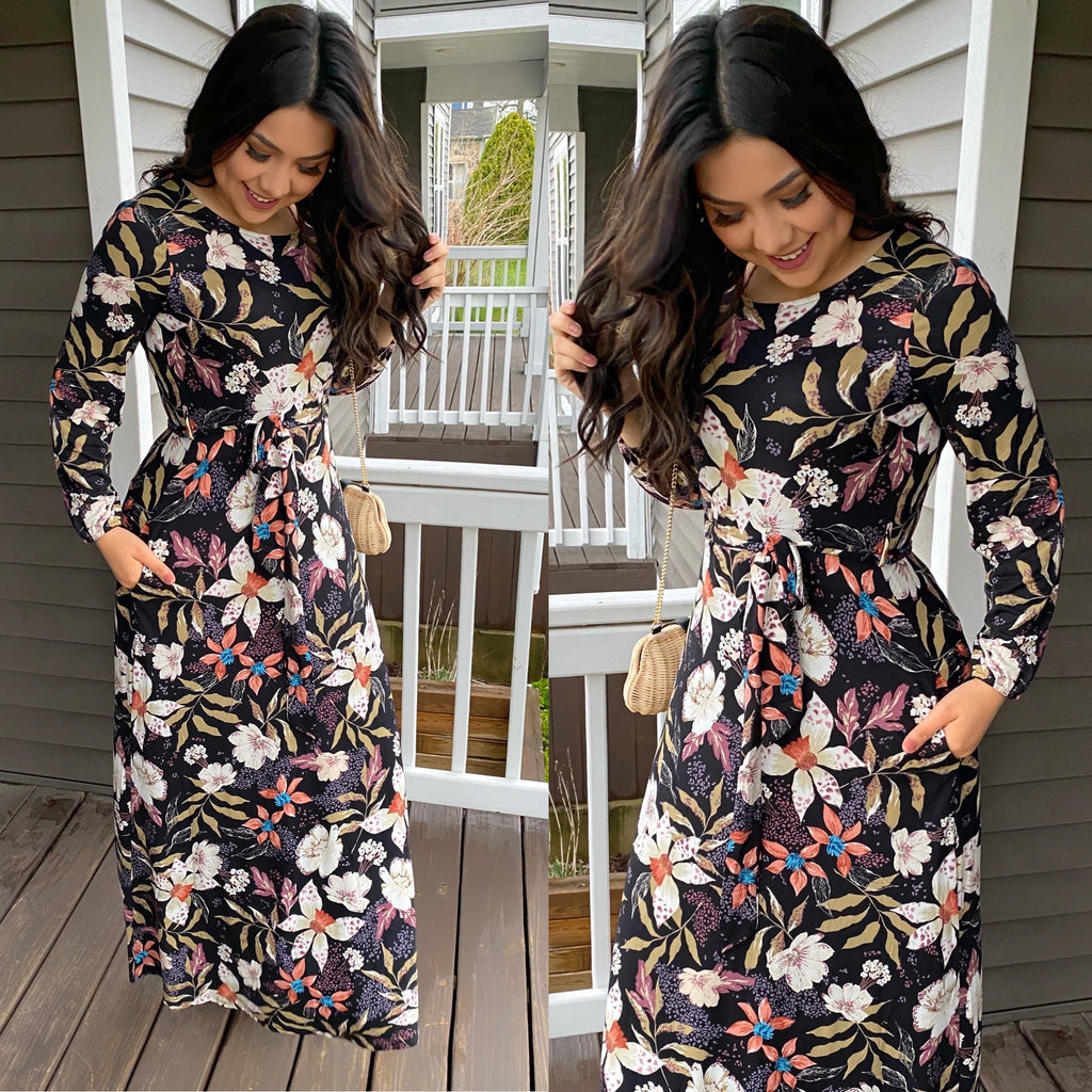 Windsor Floral Maxi Dress (Pre-Order) - The Darling Style - Modest Dresses