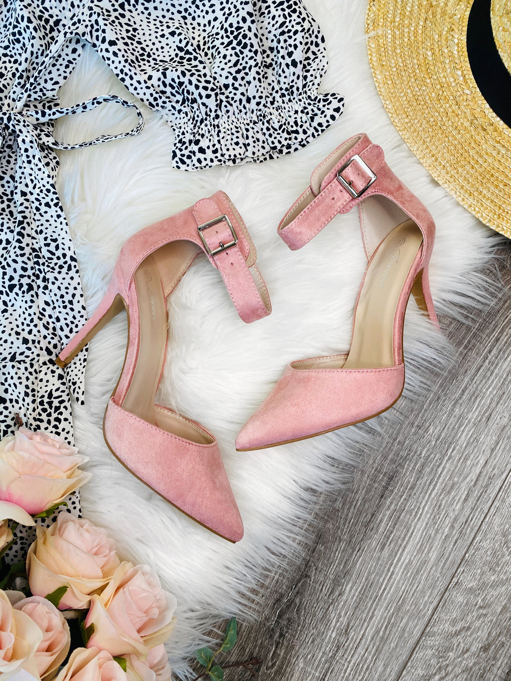Classy Pink Pointed Heels - The Darling Style - Modest Dresses