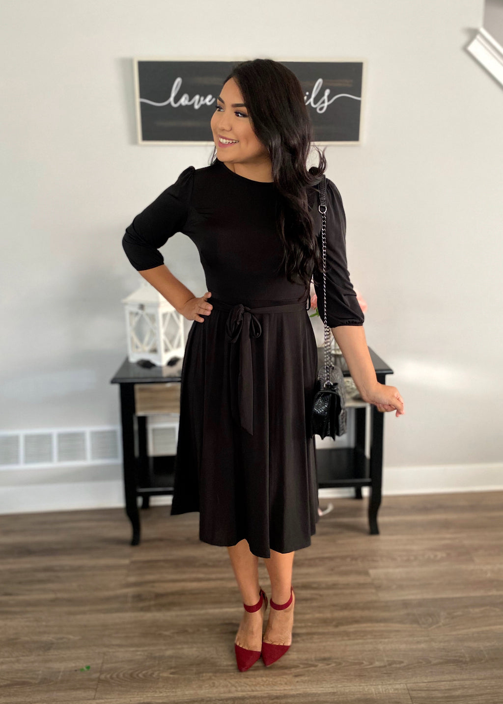 Forever Yours Dress - In Black - The Darling Style - Modest Dresses
