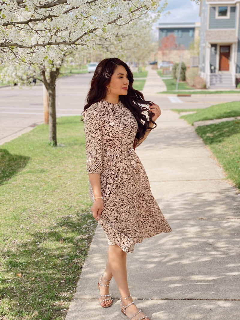 The Leo Dress - In Taupe