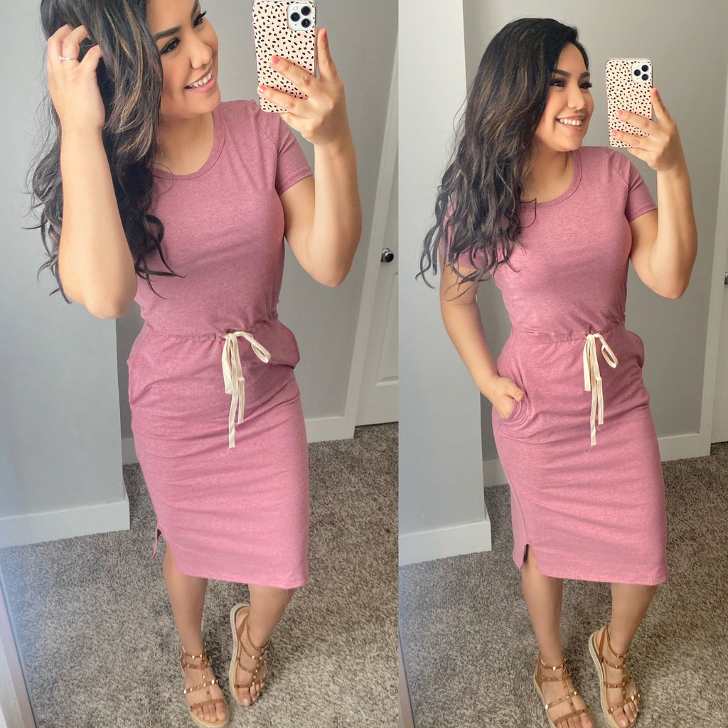 McKenna Lounge Dress - Mauve - The Darling Style - Modest Dresses