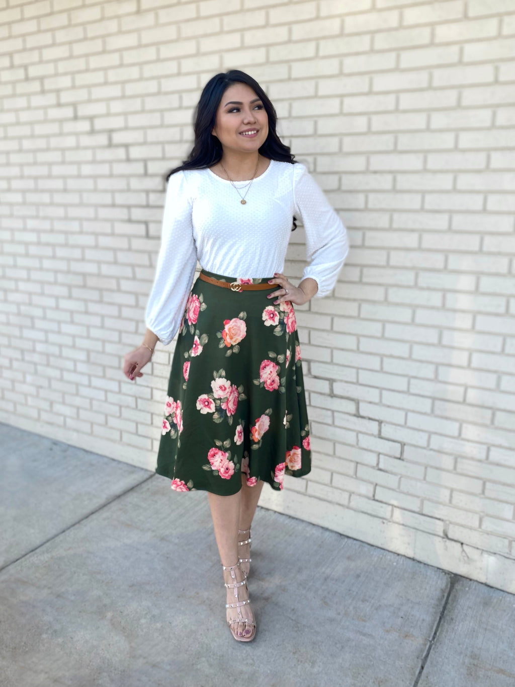 The Georgia Floral Skirt (Exclusive)