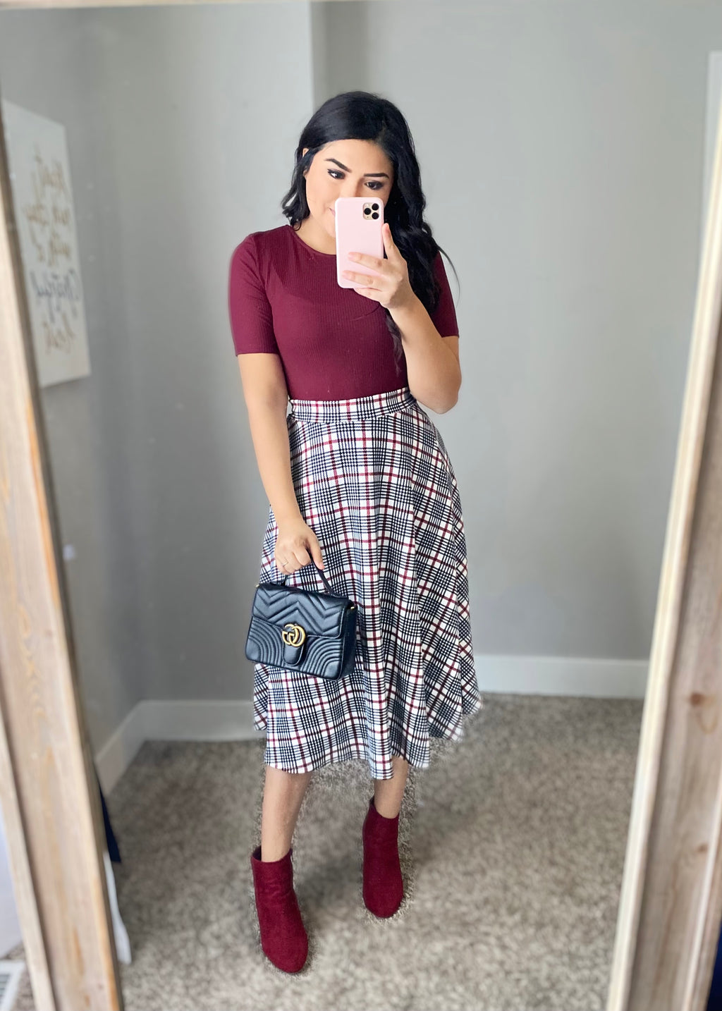 Merry Plaid Skirt (Pre-Order ships on 12/4)