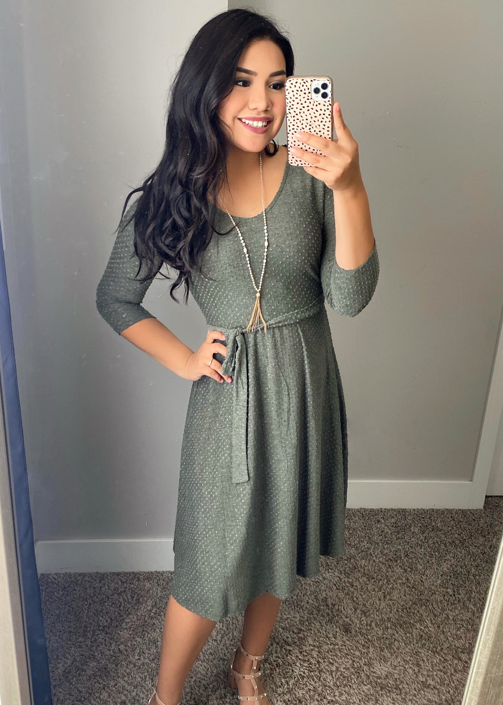 Big Dreams Dress - Olive - The Darling Style - Modest Dresses