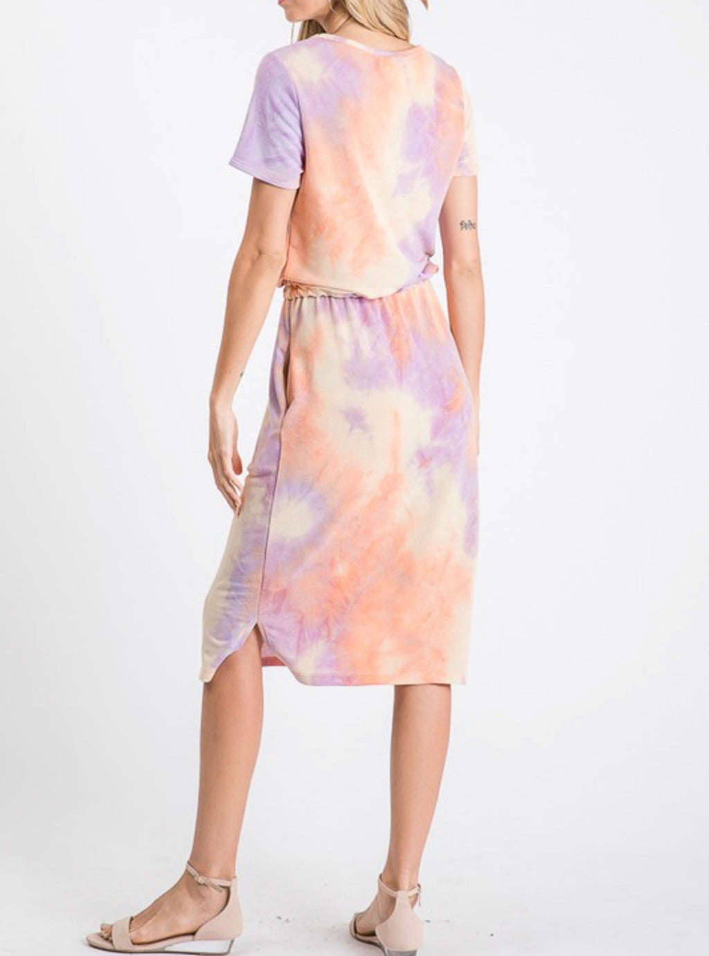 Tie Dye Pastel Lounge Dress