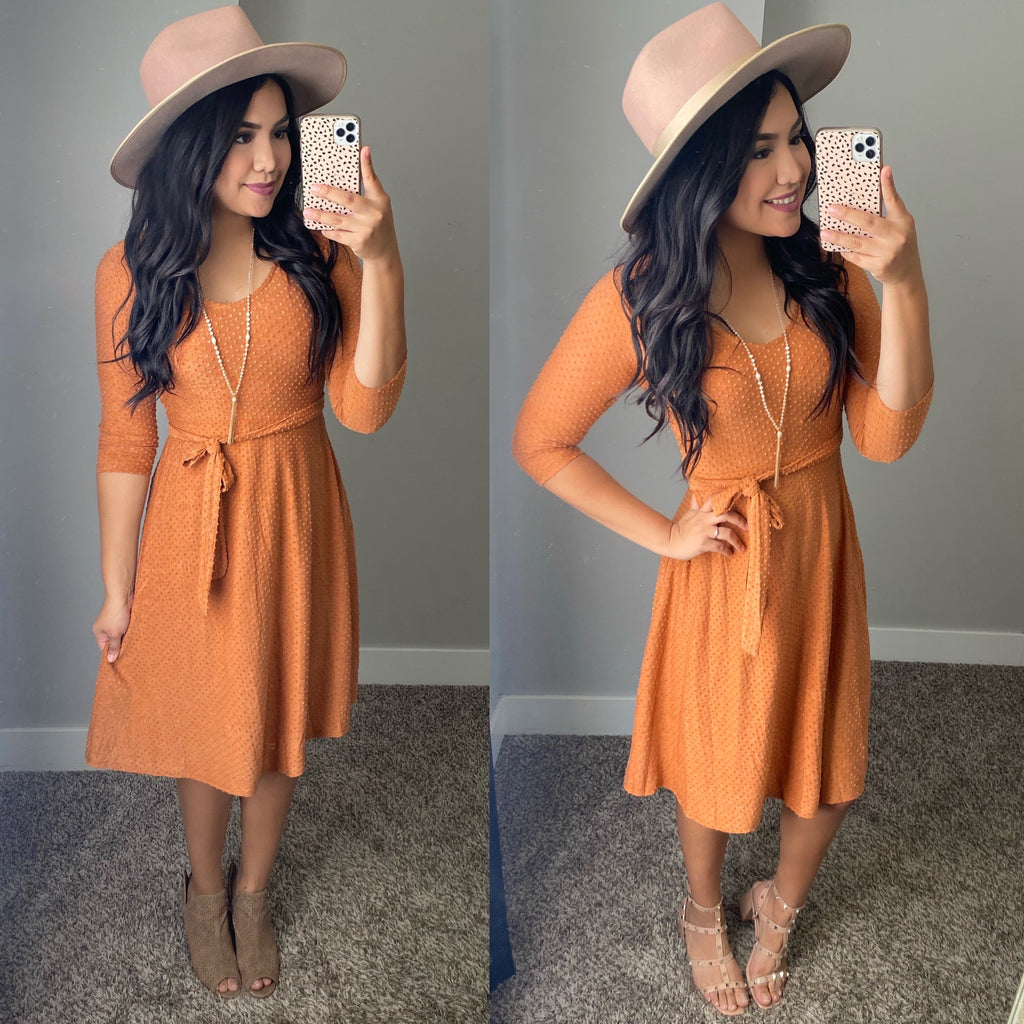 Big Dreams Dress - Pumpkin Spice - The Darling Style - Modest Dresses