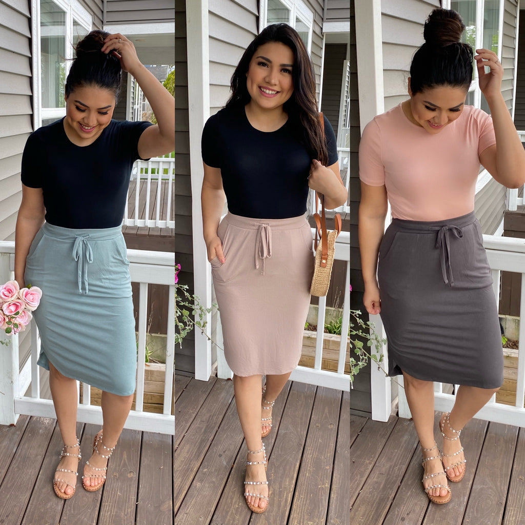 Lounge Skirt - Sage - The Darling Style