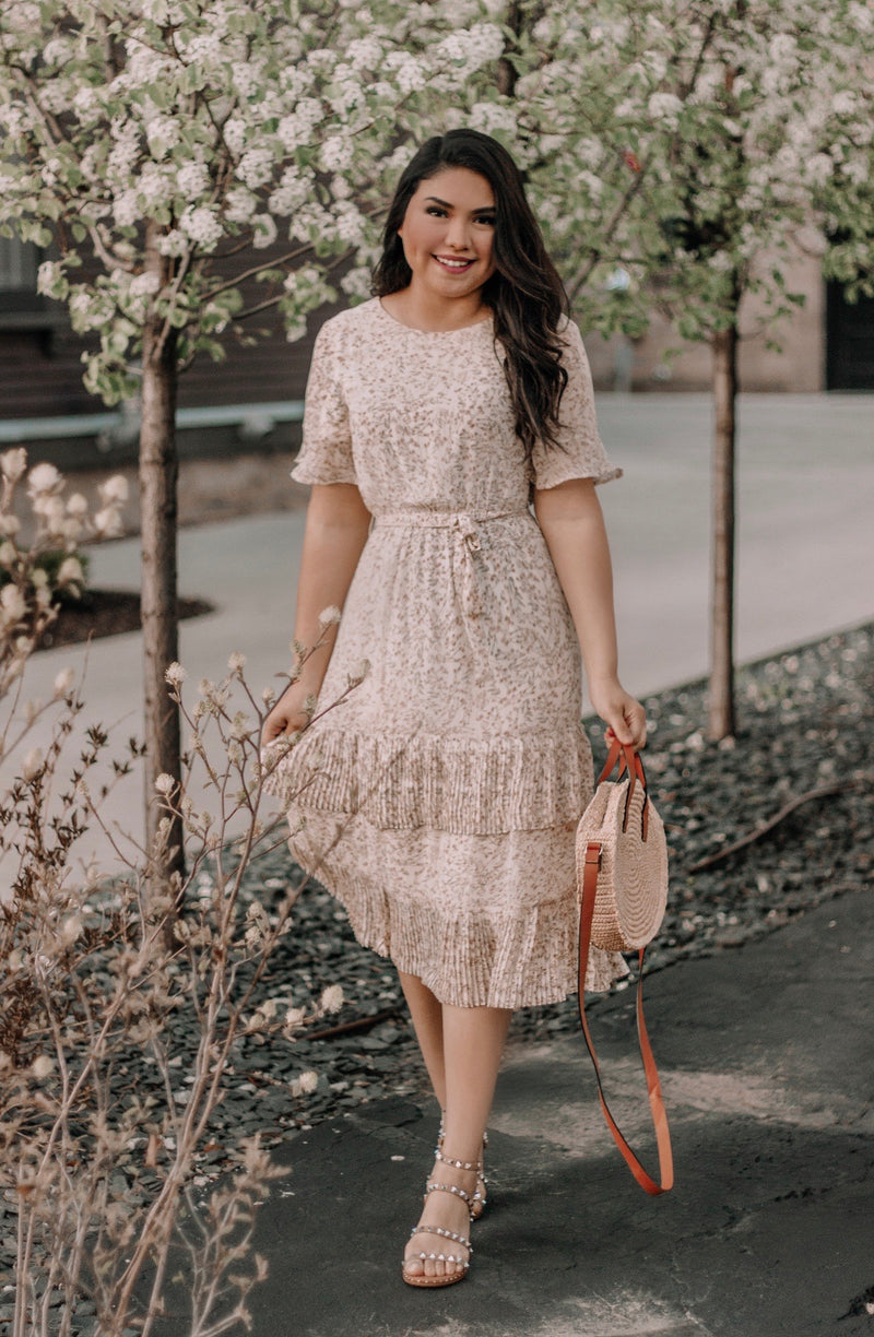Spring Fling Dress - In Ivory - The Darling Style - Modest Dresses