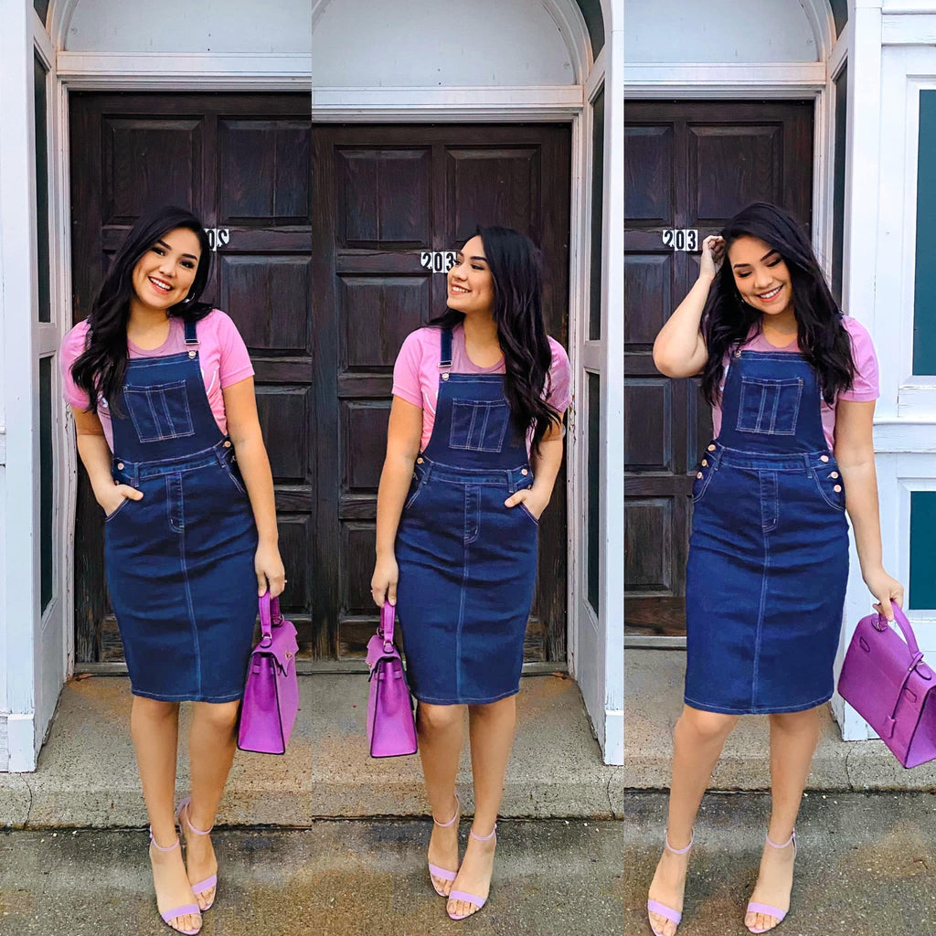 Loving You Everyday - Light Denim Overalls - The Darling Style - Modest Dresses