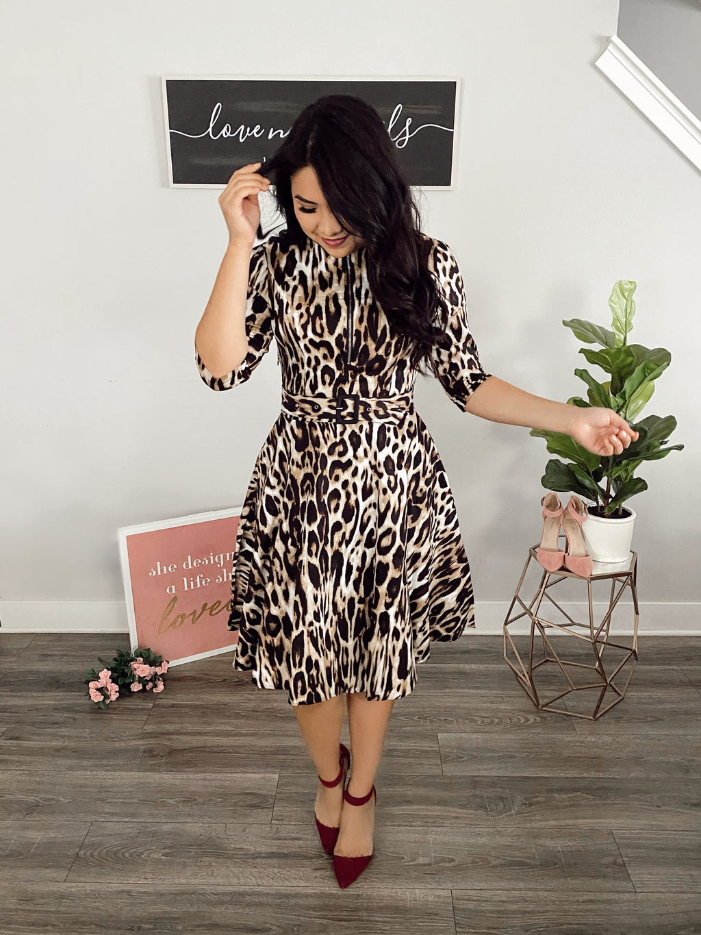 Leopard For Days Dress - Fit & Flare Style - The Darling Style - Modest Dresses