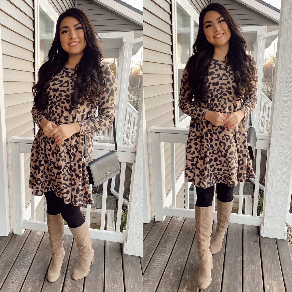 Jessica Leopard Dress or Long Top