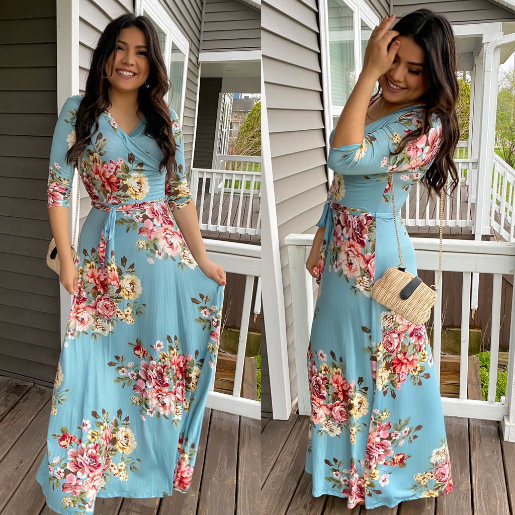 Spring Floral Maxi Dress - The Darling Style - Modest Dresses