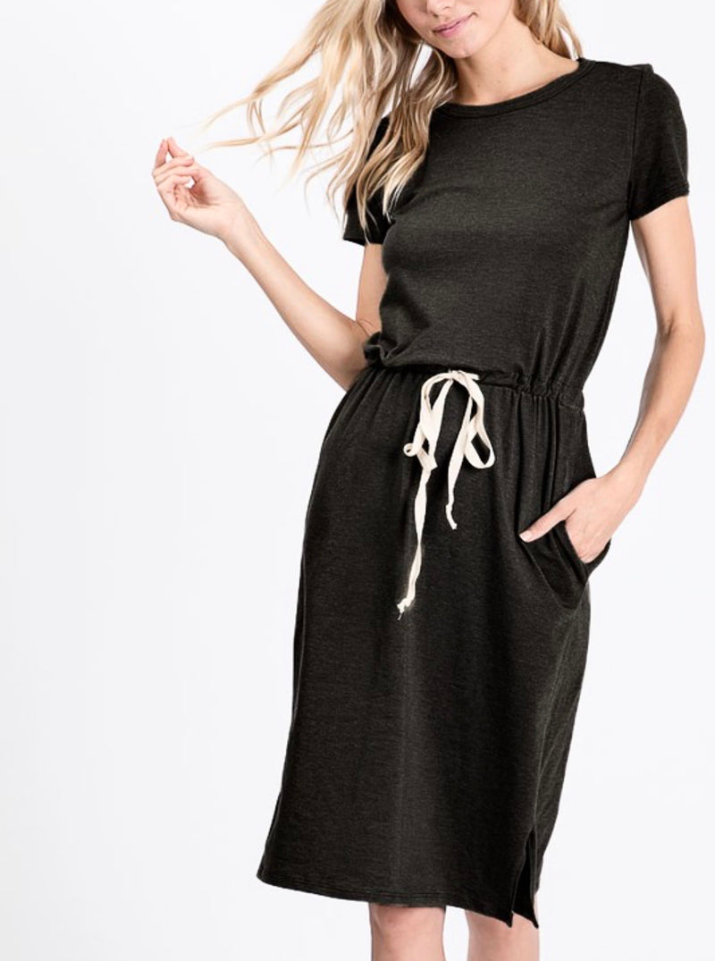 McKenna Lounge Dress - Black - The Darling Style - Modest Dresses