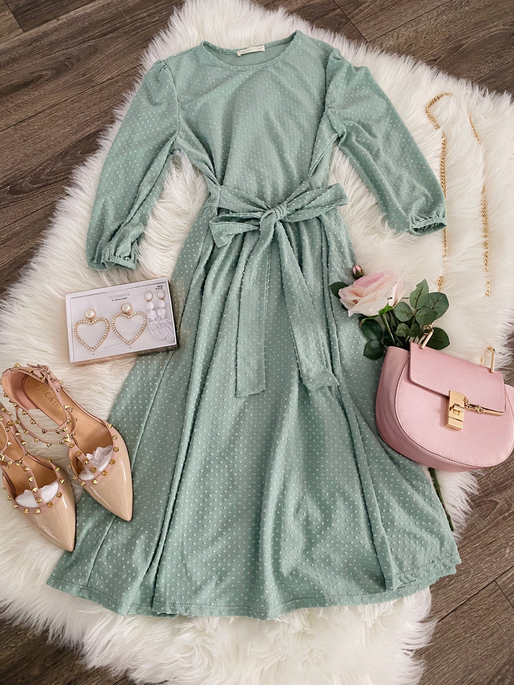 Everlasting Love Dress - In Mint
