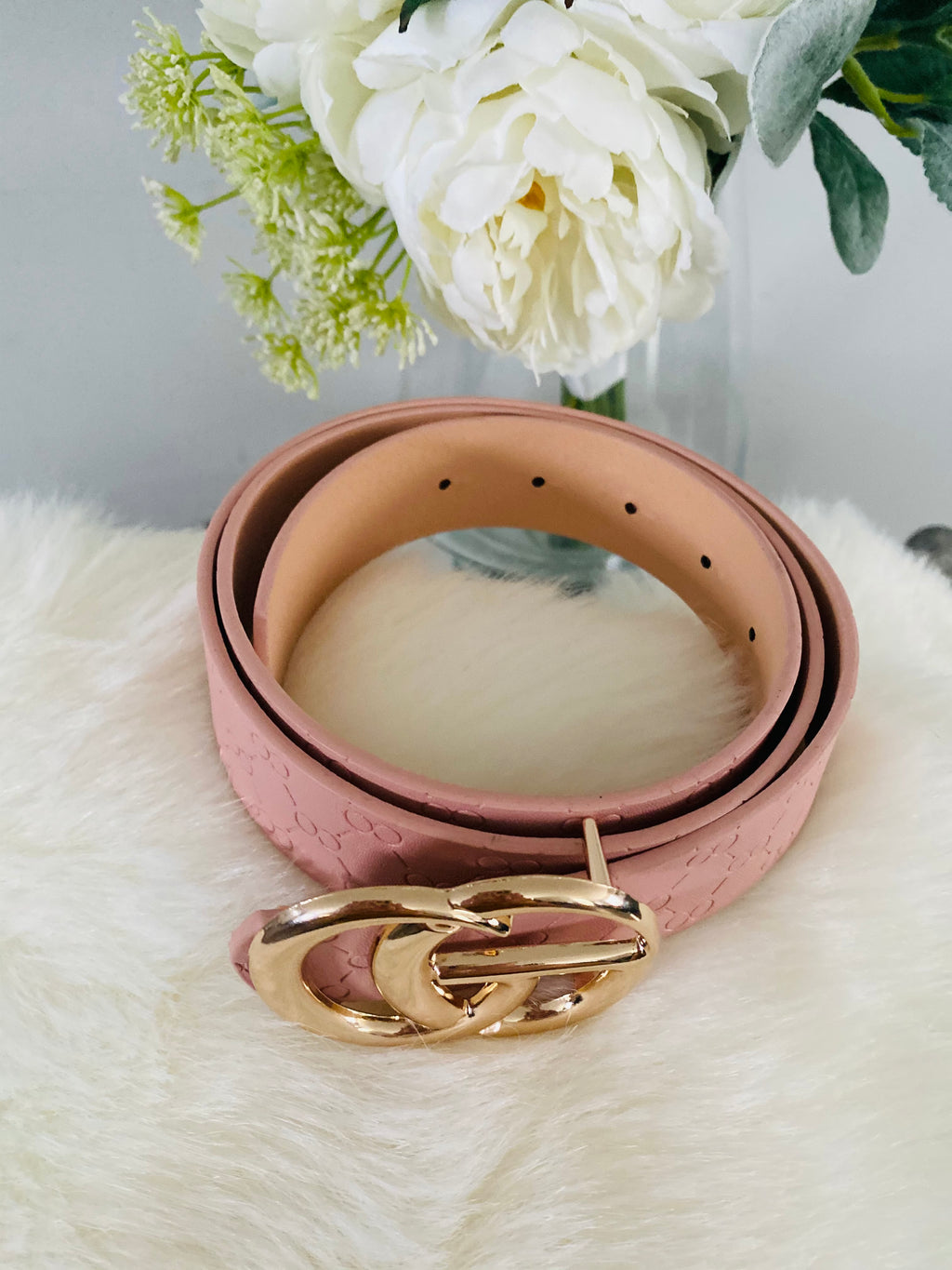 Classy Blush Belt - Designer Look - The Darling Style