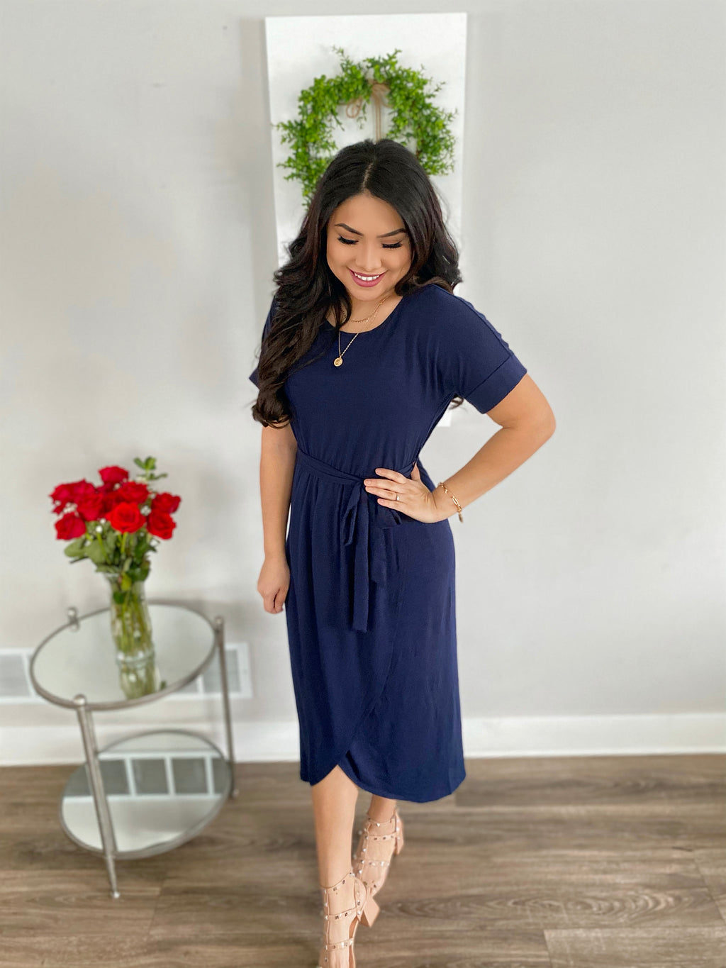 The Antonella Dress - Navy
