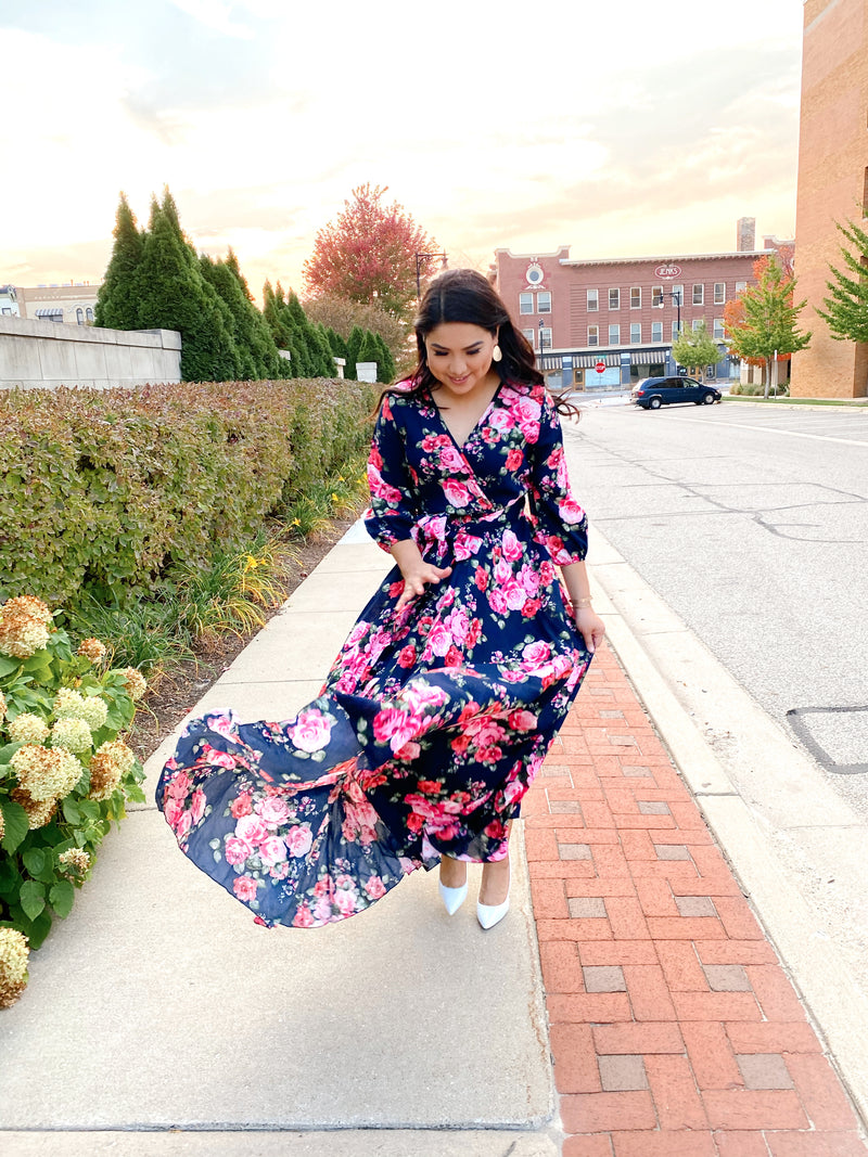 Enchanted Floral Maxi Dress