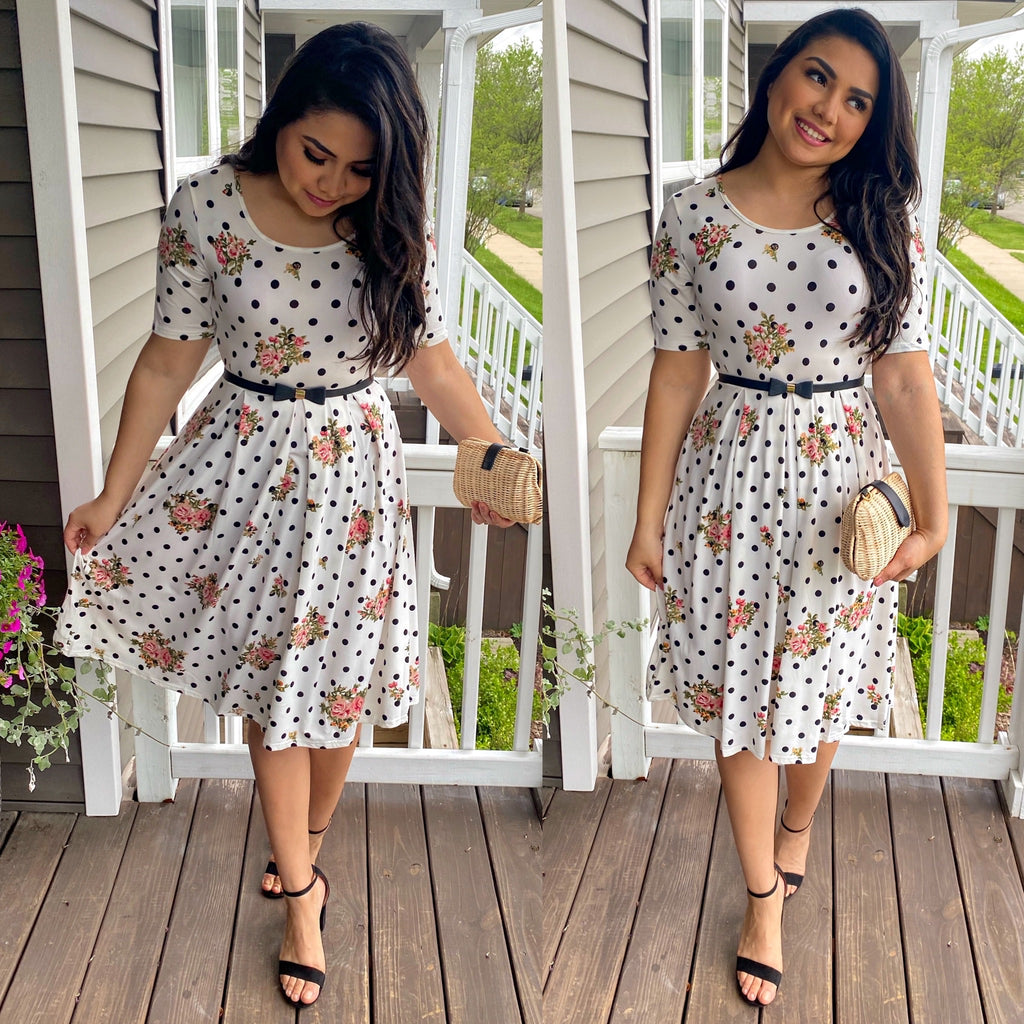 Spot On Floral Dress - The Darling Style - Modest Dresses