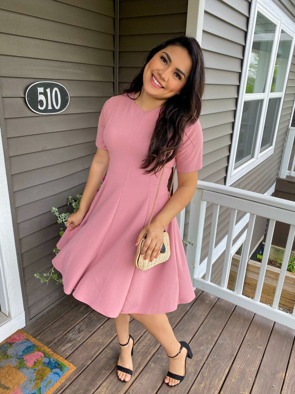 Sophia Dress - Pink - The Darling Style - Modest Dresses