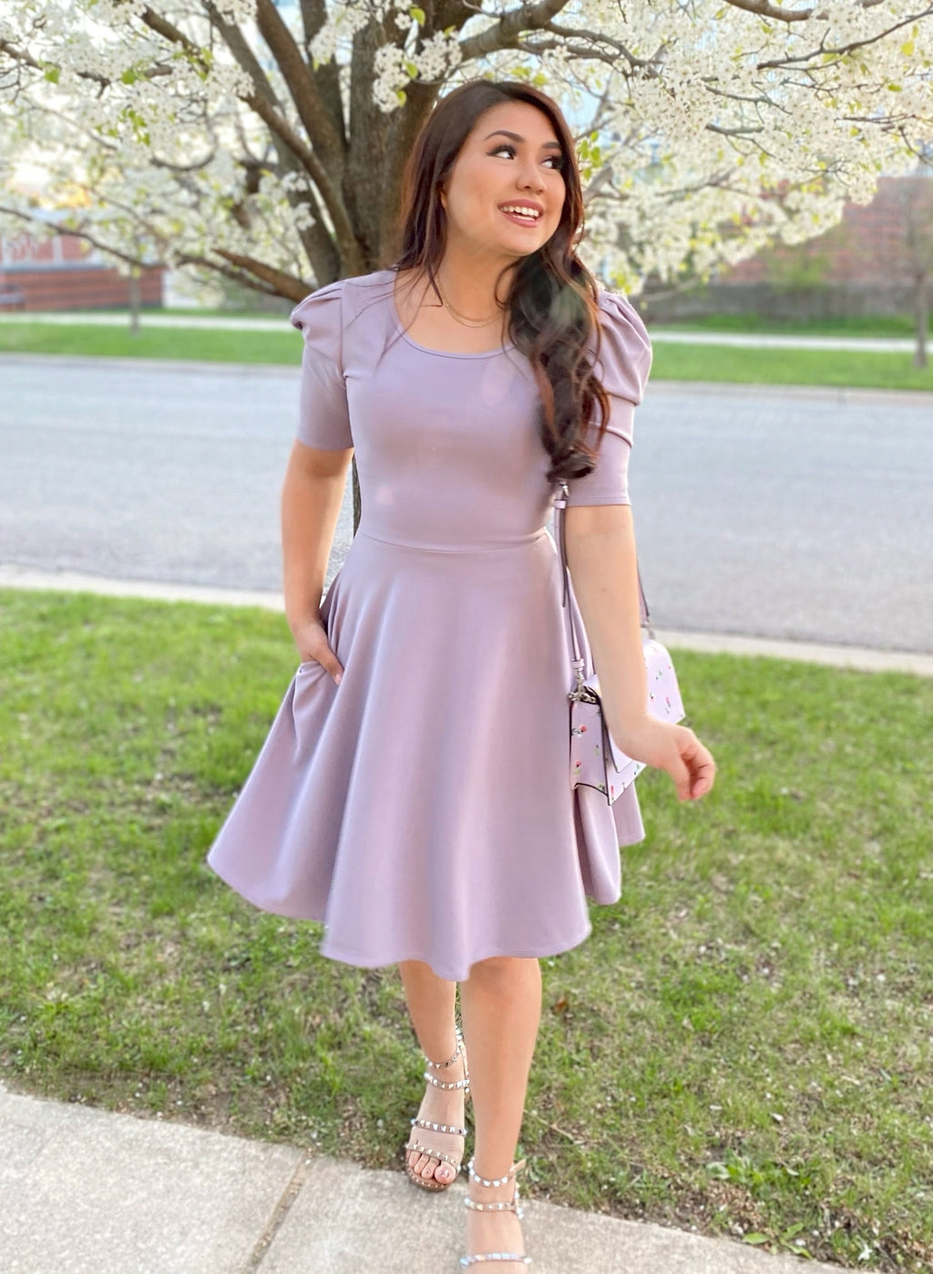 The Chloe Dress - Lilac