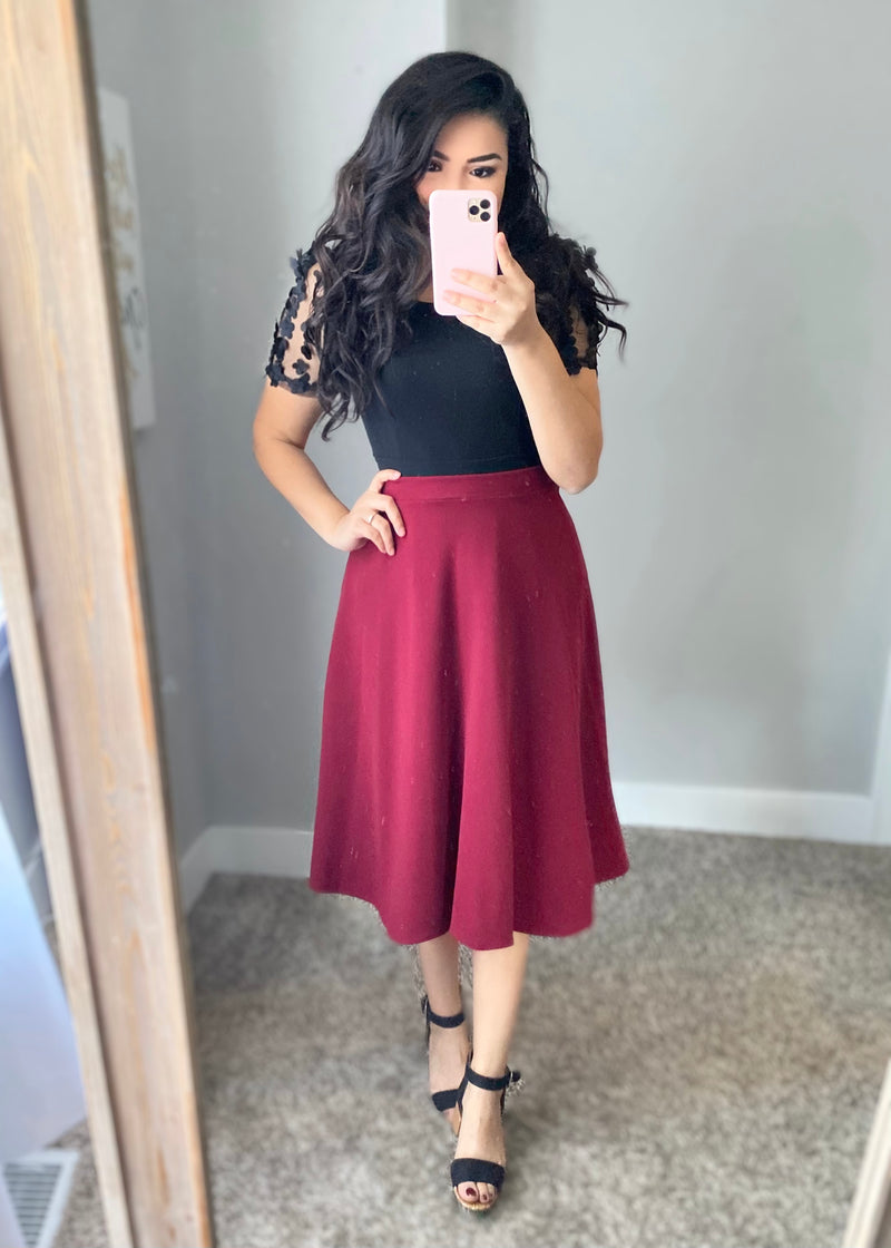 Holiday Wine Skirt