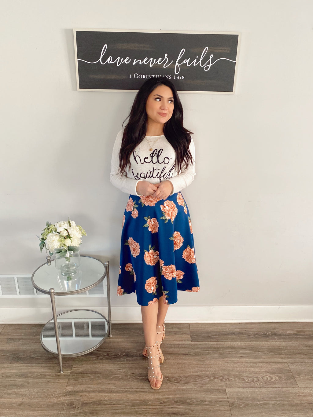 The Bethany Floral Skirt (Exclusive)