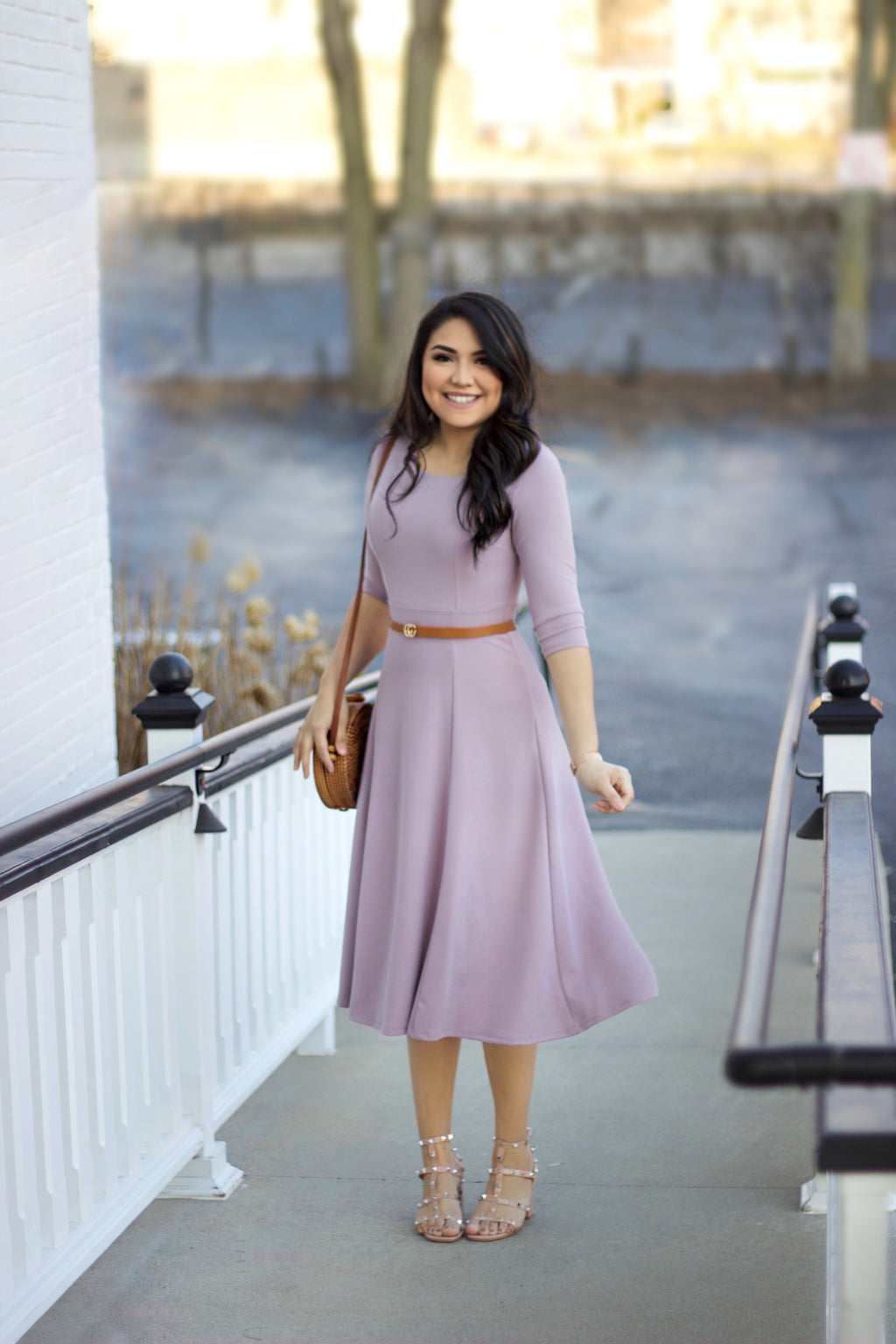 The Chloe Dress - In Lilac - The Darling Style - Modest Dresses